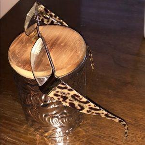 Dolce and Gabbana leopard eyeglasses